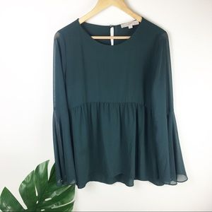Loft | Blouse with bell sleeves